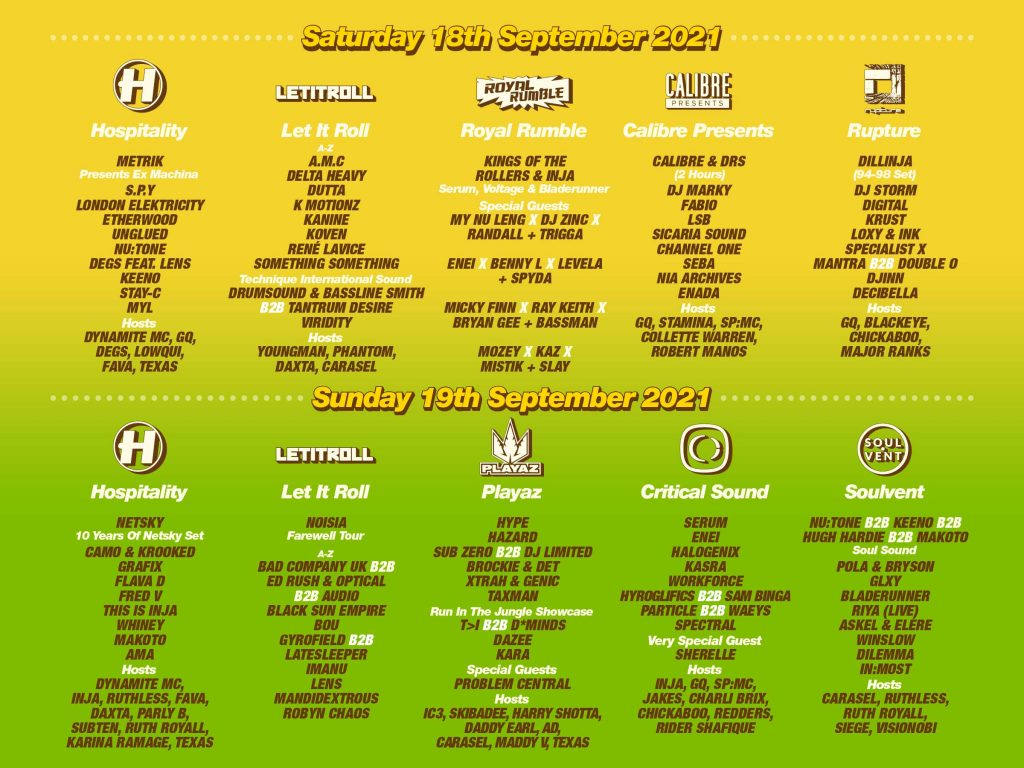 Hospitality Weekend In The Woods Line Up