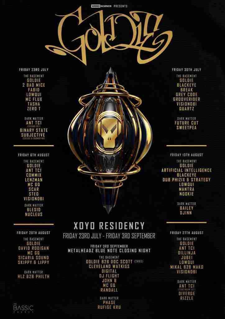 Goldie XOYO Residency